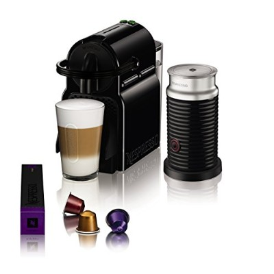 Magimix Nespresso Inissia Coffee Machine with Aeroccino - Black by Magimix