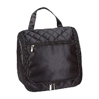 Travelwell Black Cosmetics Plaid Travel Overnight Hanging Toiletry Bag by Travelwell