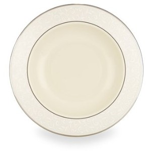 LenoxパールInnocence platinum-banded Fine China 5-piece Place Setting Pasta/Soup Bowl 6134365