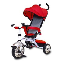 JTC(ジェーティーシー) ベビー用品 3 in 1 Tricycle かじとり三輪車 レッド・J-5149