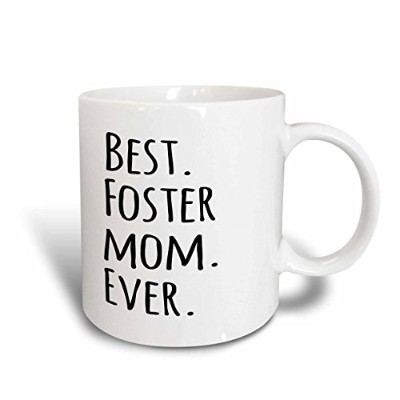 (330ml) - 3dRose mug_151525_1 Best Foster Mom Ever Foster Family Gifts Good for Mothers Day Black...