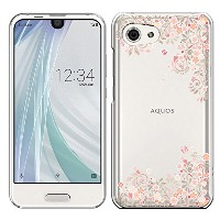 「Breeze-正規品」iPhone ・ スマホケース ポリカーボネイト [透明-Pink]アクオス アール コンパクト AQUOS R compact SHV41 AQUOS R compact...