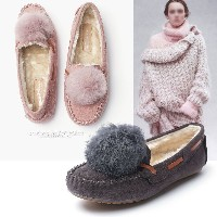 AA1018-1 rabbit fur loafer
