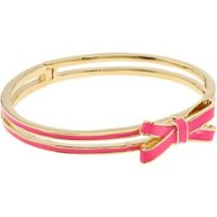 Kate Spade Double Bow Hingedバングルブレスレットピンク