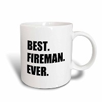 3dローズInspirationzStoreタイポグラフィ – Best Fireman ever- Fun Gift for – Fire man消防士ジョブAppreciation –...
