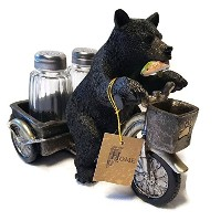 Bear on a Tricycle Salt and Pepper Shakerホルダー