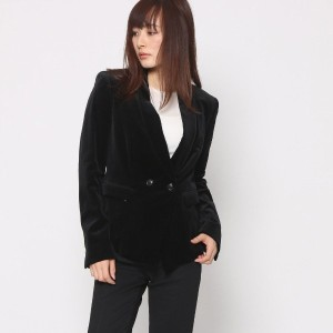 【SALE 80%OFF】ニューヨーク インダストリー  New York Industrie Outlet ベロアジャケット (ブラック)