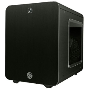 RAIJINTEK 0R200055 METIS PLUS Black アルミニウム製Mini-ITXケース ブラック