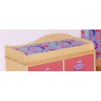 Room Magic Changing Pad Cover, Girl Teaset by Room Magic