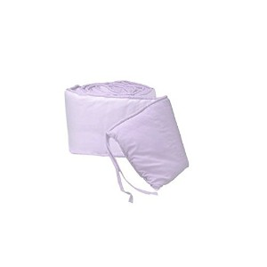 Tailored Baby Crib Bumpers - Color Lavender by BabyDoll Bedding