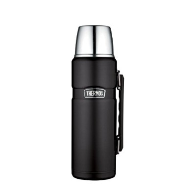Thermos [USA版] Stainless King ボトル 40-Ounce 約1.2リットル (Matte Black)