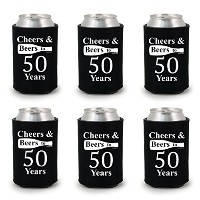 shop4ever Cheers & Beers 50年にCan Coolie誕生日ドリンククーラーCoolies ブラック
