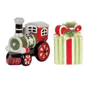 Fitz and Floyd冬ホワイトHoliday Salt and Pepper Shaker Set