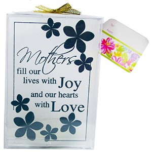 Mothers Fill Our Lives Wth Joy and Our Hearts with Love装飾ガラスCandleholder