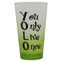 You Only Live Once Pint Beer Mugガラス–面白い誕生日ギフトまたはRetirementギフト