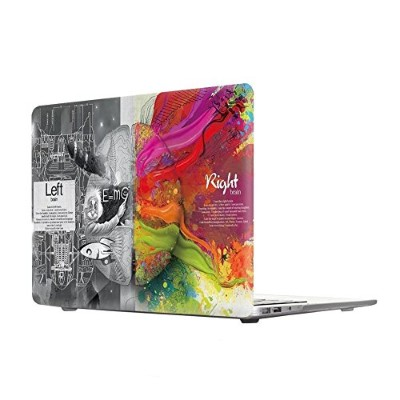 MacBook Pro 13 inch Case(Old Generation), [Left Right Brain] Soundmae Frosted Plastic Hard Shell...