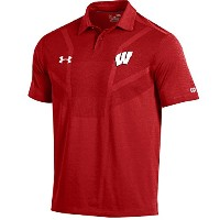 "Wisconsin Badgers under armour NCAA "" Tour ""メンズパフォーマンスポロシャツ M レッド"