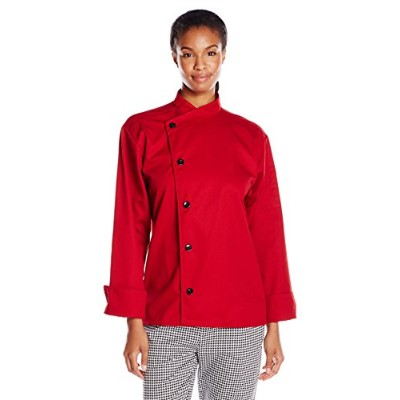 Uncommon Threads 0482-1904 Rio Chef Coat in Red - Large