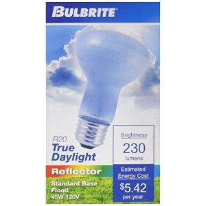 Bulbrite 45R20FL/N 45-Watt Incandescent True Daylight R20 Reflector Flood Light by Bulbrite