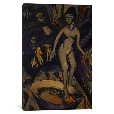 """iCanvasART 1Piece Female Nude with Hot Tub、1912キャンバスプリントby Ernst Ludwig、12by 8"""" / 0.75"""" Deep 12..."""