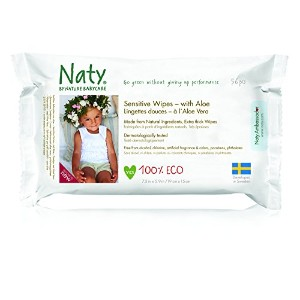 Naty Eco-Sensitive Baby Wipes with Aloe - Unscented - 56 c by Naty