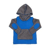 Boys Fleece Hoodie by Hej ( Shyブルー) 2T-3T shy_boy-Blue Grey-2T-3T
