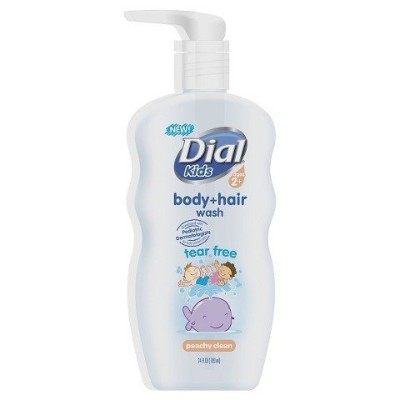 Dial Peach Body and Hair Wash for Kids - 24 oz by Dial