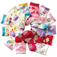 B&S FEEL Baby's Color 12 Pairs Warm Cotton Socks (Anti-slip 1 to 3 Years Old) by B&S FEEL