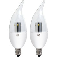 GE Lighting 22997 LED 3.5-Watt (25-watt replacement) 170-Lumen Bent Tip Light Bulb with Candelabra...