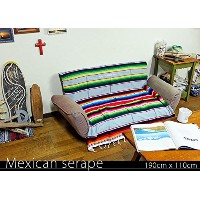RUG&PIECE Mexican Serape made in mexcico ネイティブ メキシカン サラペ メキシコ製 190cm×110cm (rug-5929)
