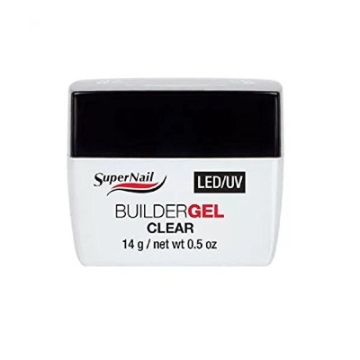 SuperNail LED/UV Builder Gels - Clear - 0.5oz / 14g