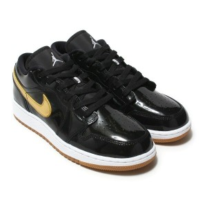 NIKE AIR JORDAN 1 LOW GG(ナイキ エア ジョーダン 1 ロー GG)BLACK/METALLIC GOLD-WHITE【キッズ スニーカー】18SP-I