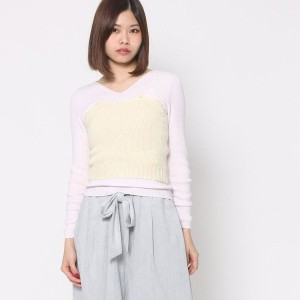 【SALE 60%OFF】ミーア プロデュースド バイ ルーミィーズ MIIA produced by Roomy's OUTLET ニットコルセット (オフホワイト)