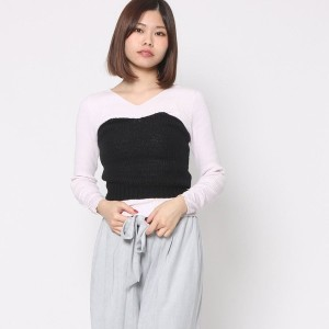 【SALE 60%OFF】ミーア プロデュースド バイ ルーミィーズ MIIA produced by Roomy's OUTLET ニットコルセット (ブラック)
