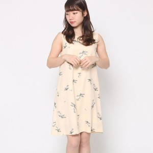 【SALE 60%OFF】ミーア プロデュースド バイ ルーミィーズ MIIA produced by Roomy's OUTLET エンブロイダリーワンピース (イエロー)
