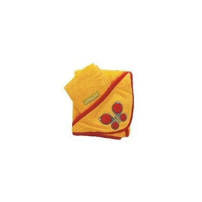 Kalencom Butterfly Hooded Towel and Washcloth Set Yellow by Kalencom