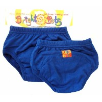 Bright Bots Potty Training Pants (Twin Pack, Blue, Small, 12 -18 months)
