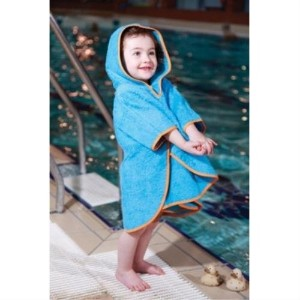 Cuddledry Toddler Swim Poncho (Orange Edge)