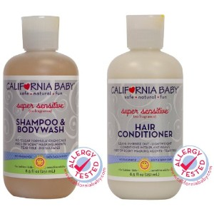 California Baby Super Sensitive Shampoo & Bodywash (8.5 Oz) WITH Super Sensitive Hair Conditioner ...