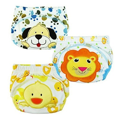 Losorn (TM) 3 pcs Baby Baby Kids Potty Training Pants Washable Cloth Diaper Nappy Underwear (Medium...