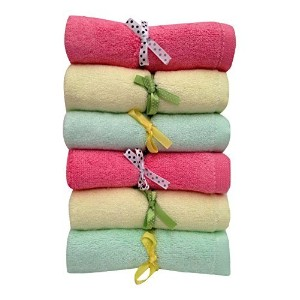 Baby Washcloths, Soft Luxurious Bamboo, Large Organic Durable Absorbent Wipes by Heath & Kate