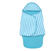 green sprouts Muslin Baby Bath Swaddle made from Organic Cotton,Aqua by green sprouts