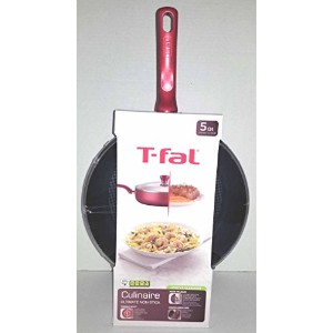 t-fal culinaire 5Qt。CoveredジャンボFry Pan (レッド)