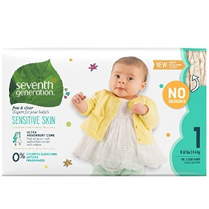 Seventh Generation Free and Clearベビーおむつ、Packaging May Vary