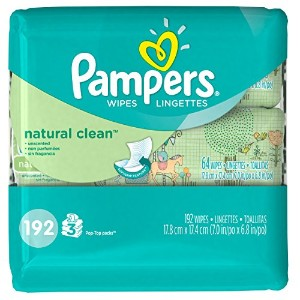 Pampers Natural Clean Wipes Travel Pack, 192 Count by Pampers
