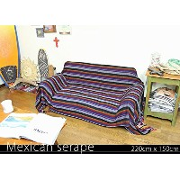 RUG&PIECE Mexican Serape made in mexcico ネイティブ メキシカン サラペ メキシコ製 220cm×150cm (rug-5937)