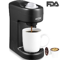 Aicok Travel Size K Cup Coffeemaker Single Serve Brewing System Coffee Machine, Black by Aicok