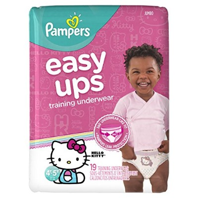 Pampers Easy Ups Training Girls Underwear, Size 6, 19 Count by Pampers
