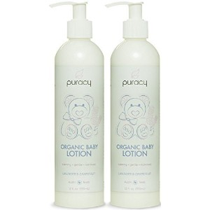 Puracy Organic Calming Baby Lotion - Developed by Doctors for All Skin Types - Natural Lightweight...