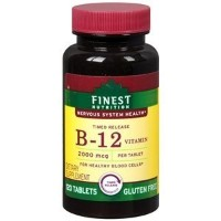 Finest Nutrition Timed Release Vitamin B12 2000mcg, Tablets, 120 ea by Finest Nutrition